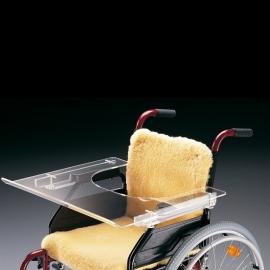 Table transparente pour fauteuil roulant