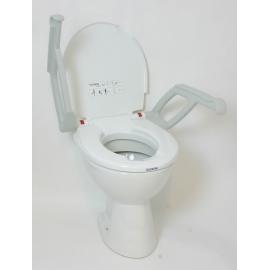 Réhausse WC 2cm avec couvercle et accoudoirs