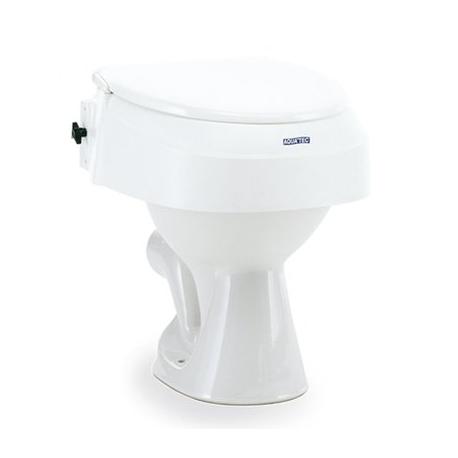 Réhausse WC fixe, réglable 6,10,15cm avec couvercle