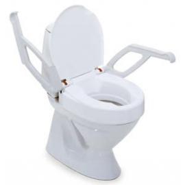 Réhausse WC 10cm avec couvercle et accoudoirs