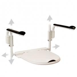 Accoudoirs de toilette régable en hauteur, avec lunette