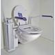Réhausse WC électrique TE12, réglable en hauteur